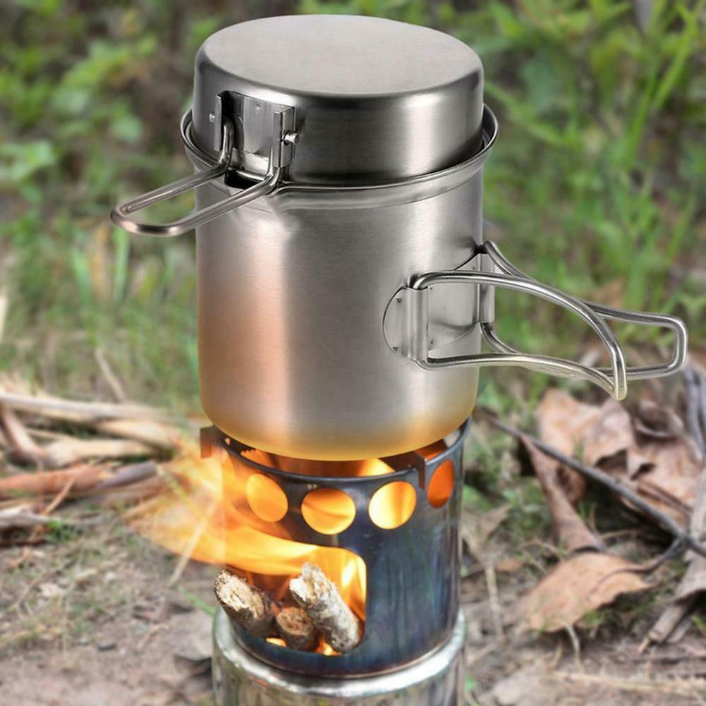 outdoor camping stove cooking pot set stainless
