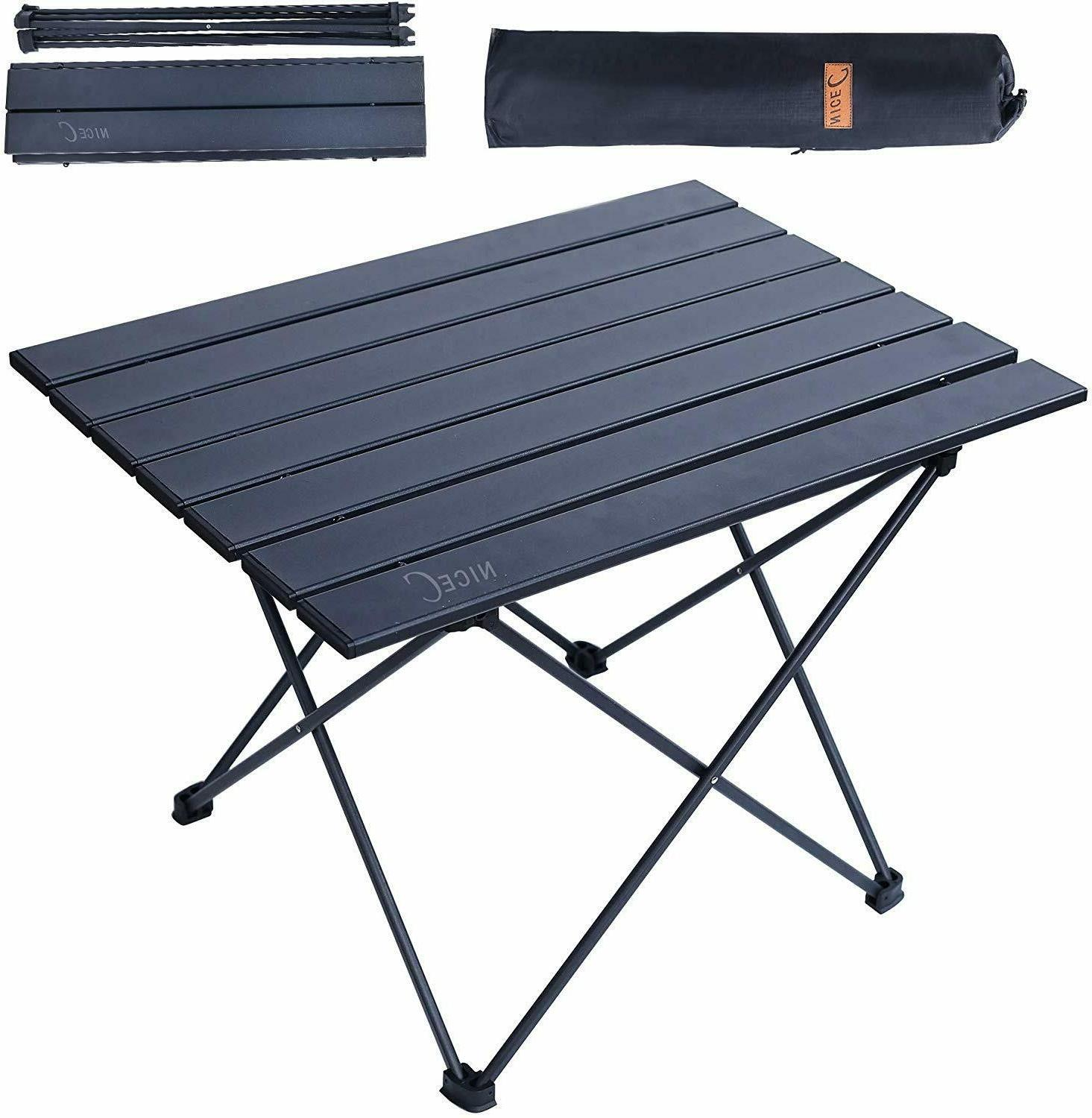outdoor portable folding aluminum table lightweight camping