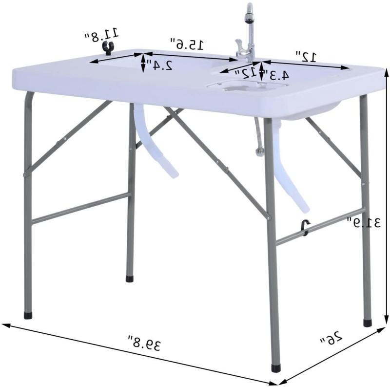 outdoor sink camping table portable folding w
