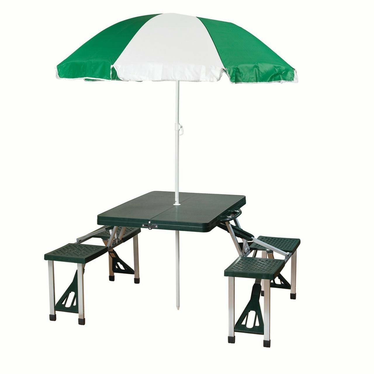 picnic table umbrella combo
