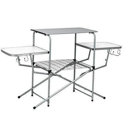 Folding Camping Table Outdoor Kitchen Portable Grilling Stan