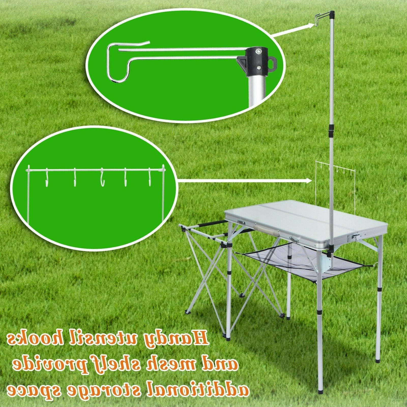 portable camping kitchen folding table portable grill