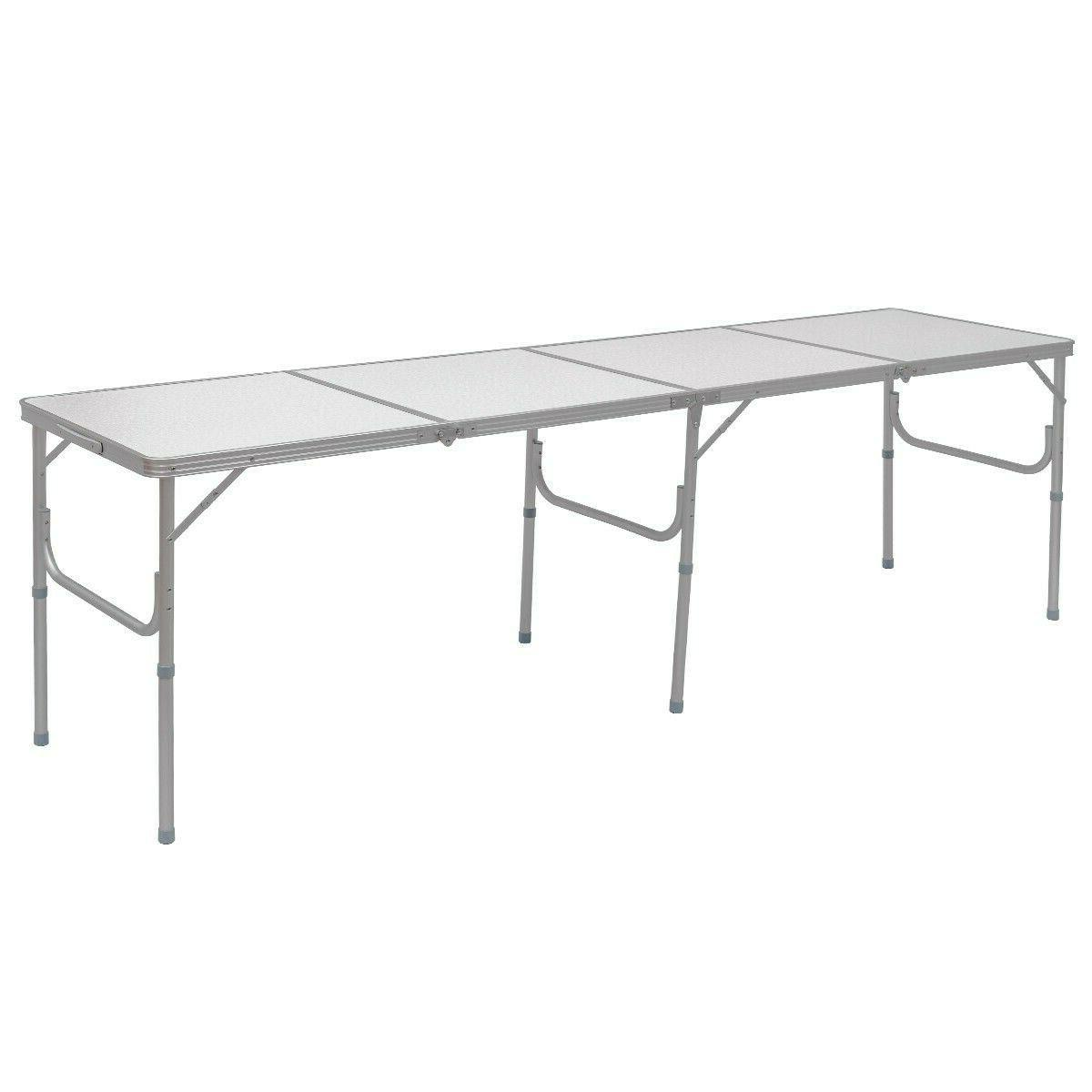 portable folding table 8 ft lightweight camping
