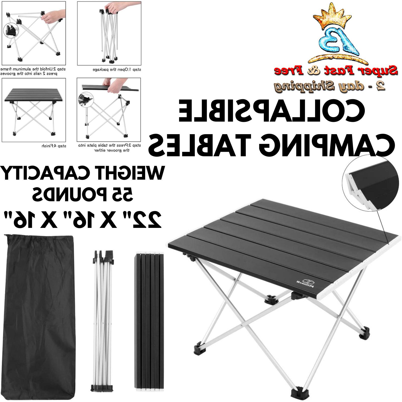 Portable Lightweight Tables Camping Folding Side Table Outdo