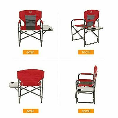 Portable Camping Director's Table Red