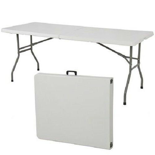 portable plastic folding table 6 indoor outdoor