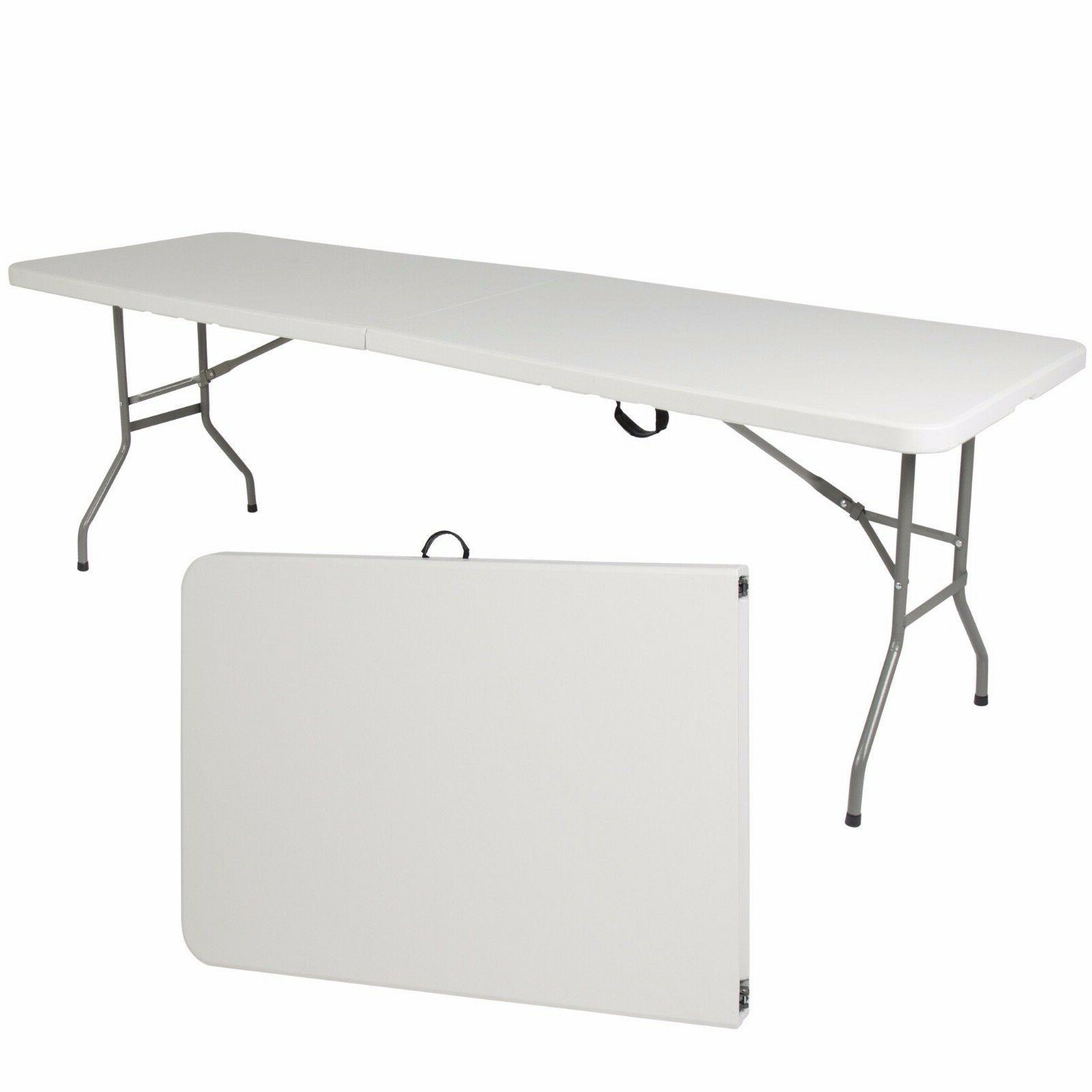 portable plastic folding table 8 indoor outdoor