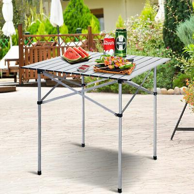 """28""""x28"""" Roll Up Portable Folding Camping Square Aluminum Pic"""