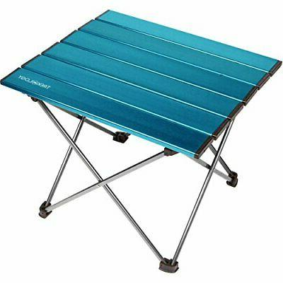 portable camping side tables with aluminum table