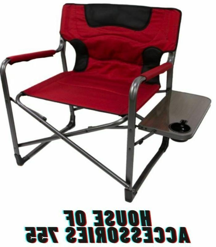 Ozark Padded Side Table Red Camping Hiking