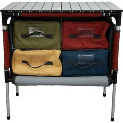 Camp Chef MSTAB Sherpa Outdoor Camping Table & Organizer wit