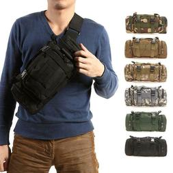 Outdoor Military Tactical Waist Pack Molle Camping Hiking Po