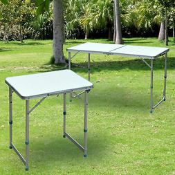 Outdoor Portable Folding Picnic Table Patio Roll up Camping