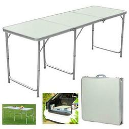 Portable Aluminum 6ft Folding Table In/Outdoor Picnic Party