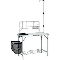 Ozark Trail Portable Camp Kitchen and Sink Table with Lanter