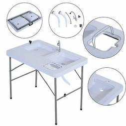 portable fish table cleaning cutting