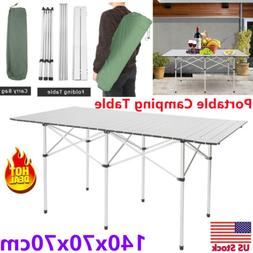 Portable Folding Camping Table Aluminum Patio Furniture for