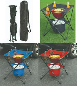 Portable Folding Picnic Table Camping Beach Small Table Cup