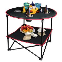 Portable Folding Picnic Table Outdoor Camping Table With Sto