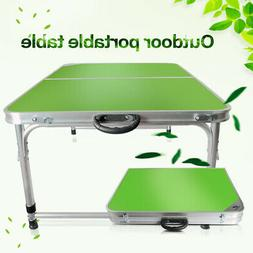 Portable Folding Table Adjust Height Picnic Camping Hiking D