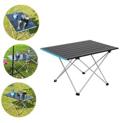 Portable Folding Table Aluminum Camping Desk Indoor Outdoor