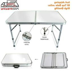 Portable Indoor Outdoor Aluminum Folding Table 4' Picnic Par