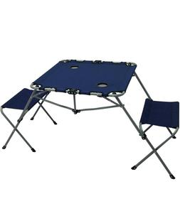 Portable Lawn Picnic Table Chair Set Tailgate Or Camping The