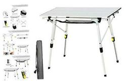 PORTAL Outdoor Folding Portable Picnic Camping Table with Al