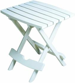 Side Table White Plastic Quick Fold Home Garden Patio Yard C