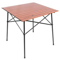 Square Folding Aluminum Roll-Top Camp Table