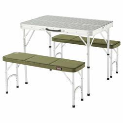 Table Camping Folding Shape Suitcase With Chairs Benches Whi